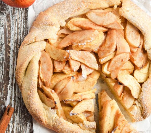 Rustykalna tarta z gruszkami i jabłkami