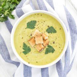Zupa porowo - ziemniaczana