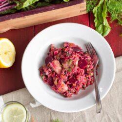 Ryż jaśminowy z botwinką i kurczakiem - przepis