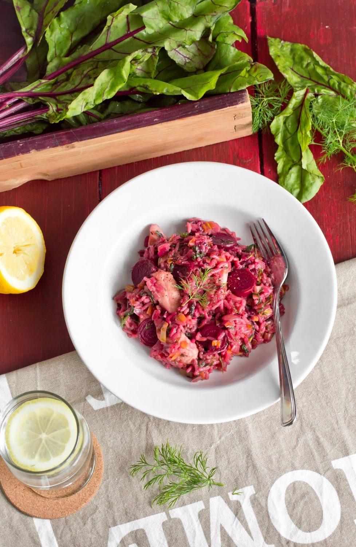 Ryż jaśminowy z botwinką i kurczakiem