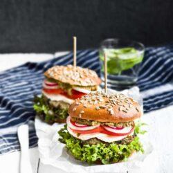 Wegetariańskie burgery z bakłażanem - przepis