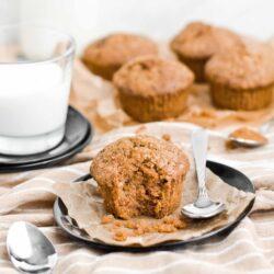 Muffiny dyniowe z dodatkiem jabłka - przepis