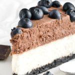 Sernik z czekoladowym musem - przepis