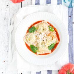 Ravioli z ricottą i szpinakiem - przepis