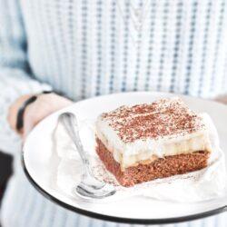 Banoffee na spodzie brownie - przepis