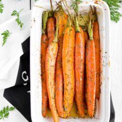 Pieczone młode marchewki - przepis
