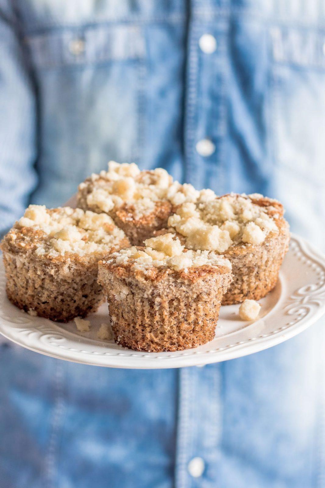 Muffiny bananowe z kruszonką
