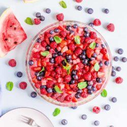 Tarta z kremem pâtissière i owocowym musem