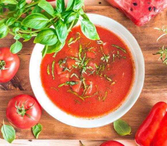 Gazpacho pomidorowo-arbuzowe