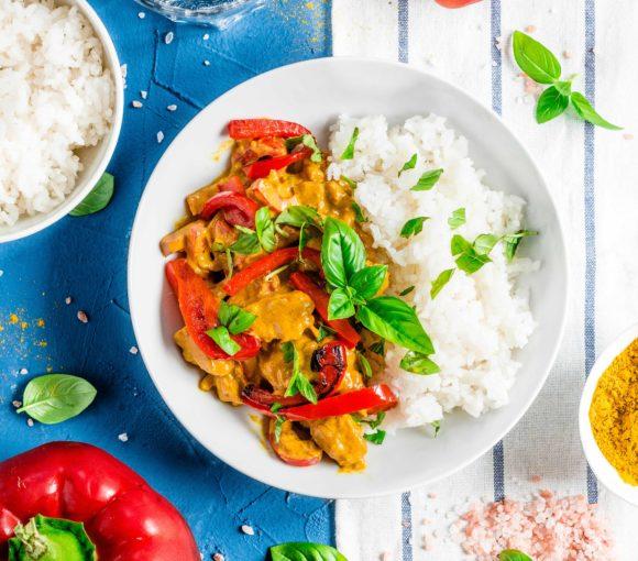 Curry z kurczakiem i papryką