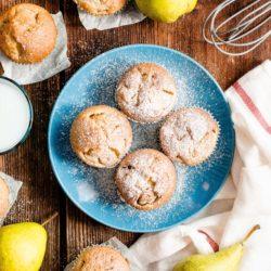 Muffiny gruszkowo – cynamonowe