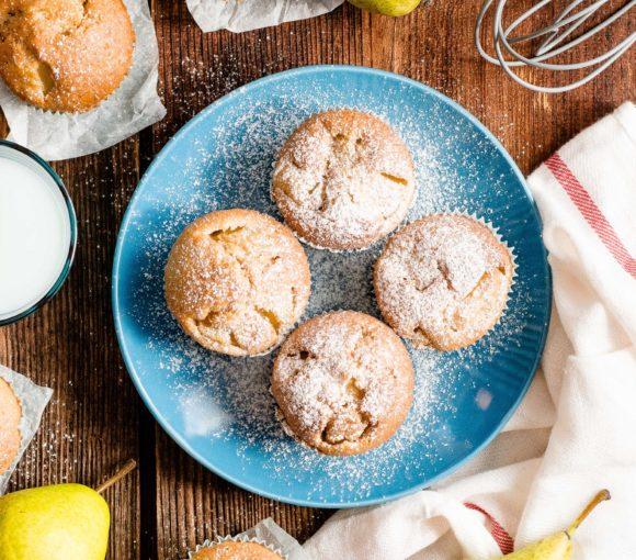 Muffiny gruszkowo-cynamonowe